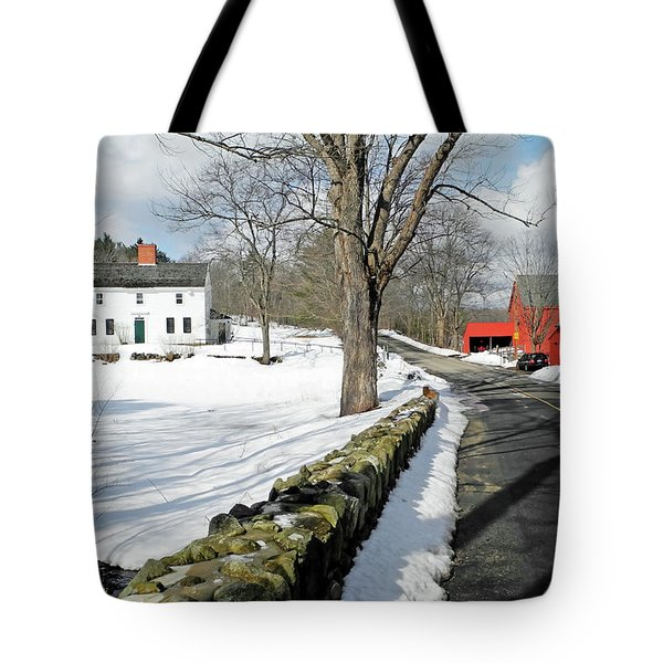 Tote Bag featuring the photograph Whittier Birthplace by Wayne Marshall Chase