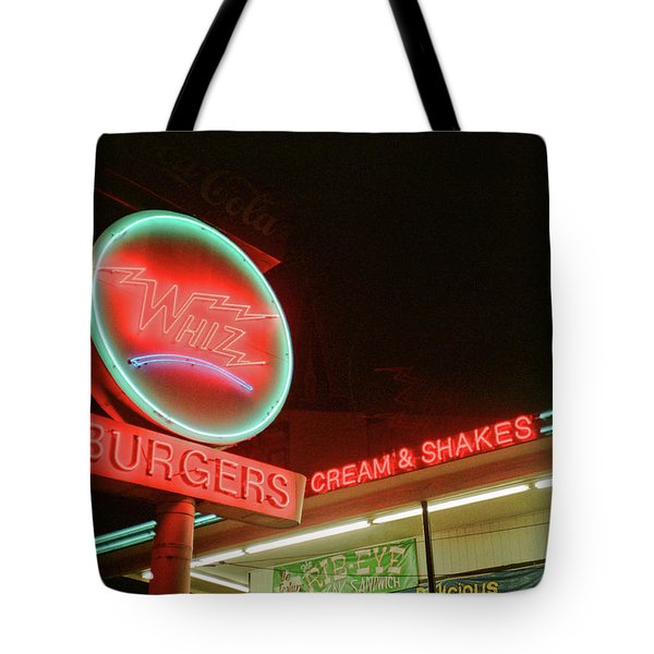 Whiz Burgers Neon, San Francisco Tote Bag