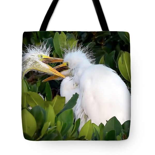 Who Gets To Eat First? Tote Bag
