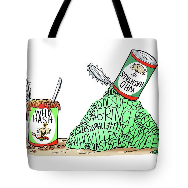Tote Bag featuring the digital art Who Hashtags by Mark Armstrong