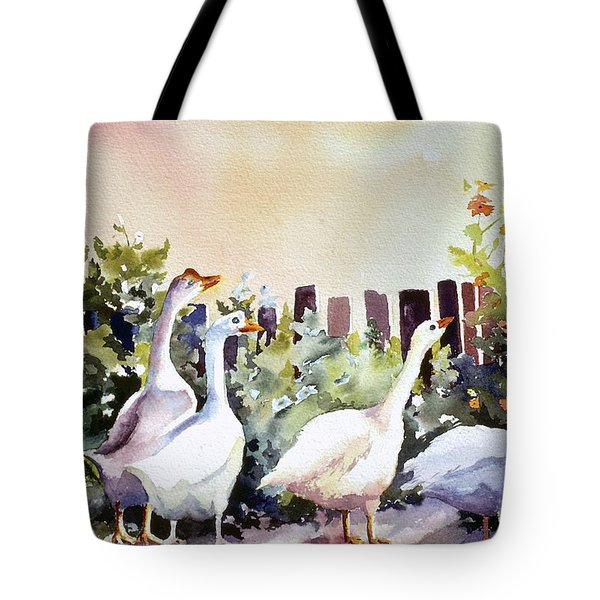 Who Is There Large Tote Bag