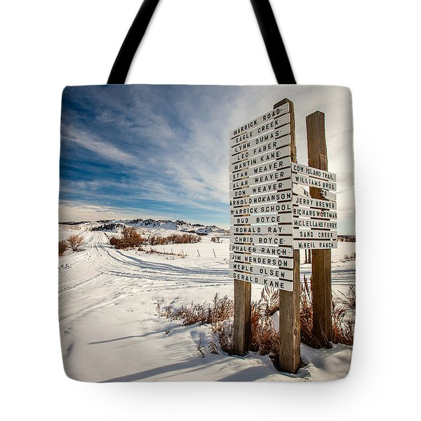 Who Lives Where Tote Bag