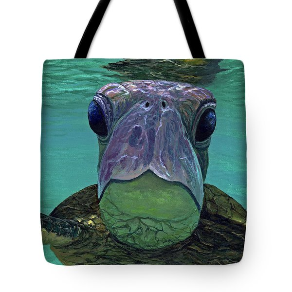 Tote Bag featuring the painting Who Me? by Darice Machel McGuire