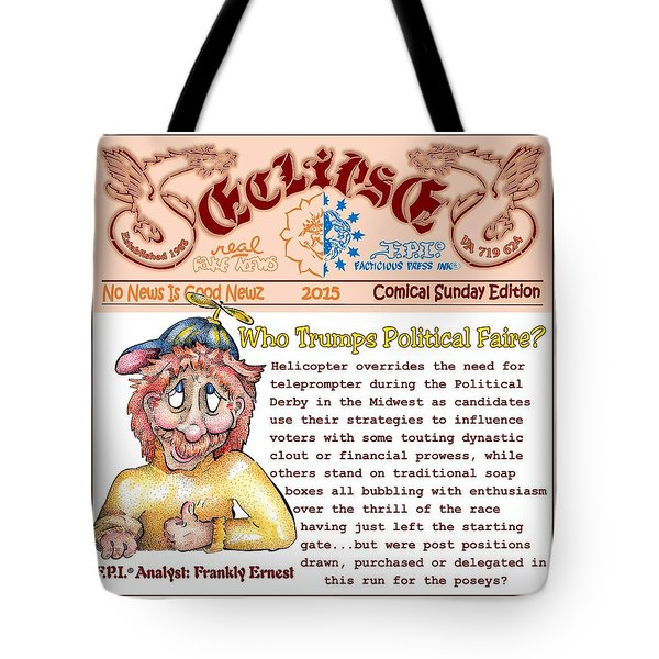 Real Fake News Analyst 3 Tote Bag
