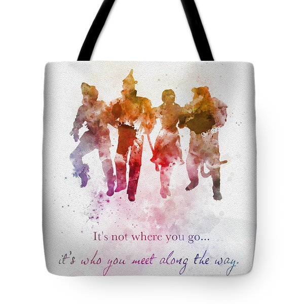 Who You Meet Along The Way Tote Bag
