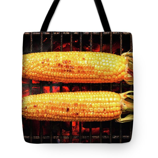 Whole Corn On Grill Tote Bag