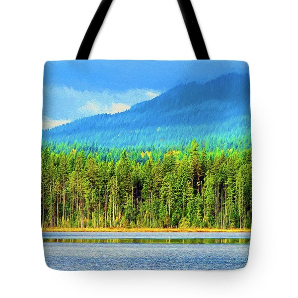 Tote Bag featuring the photograph Whonnock Lake Mountain Photo Art by Sharon Talson