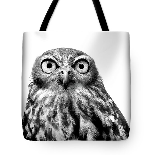 Tote Bag featuring the photograph Whoo You Callin A Wise Guy by Marion Cullen