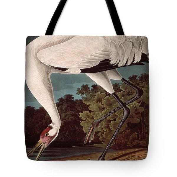 Whooping Crane Tote Bag by John James Audubon
