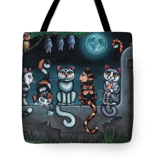 Whos Your Daddy Cat Painting Tote Bag
