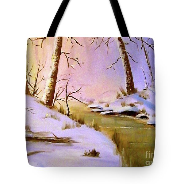 Whose Woods These Are Tote Bag