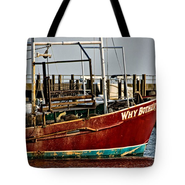 Why Bother Tote Bag by Christopher Holmes