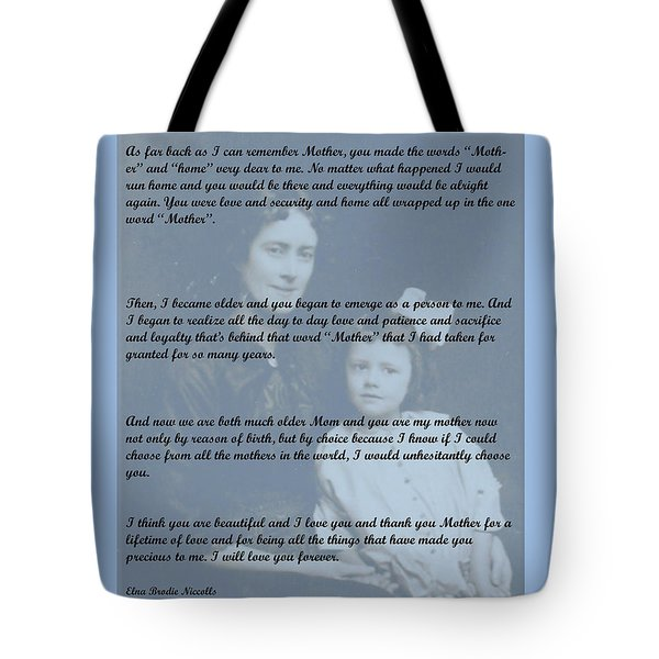 Why I Love You Mother Tote Bag