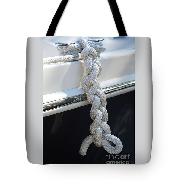 Why Knot? Tote Bag by Sandy Molinaro