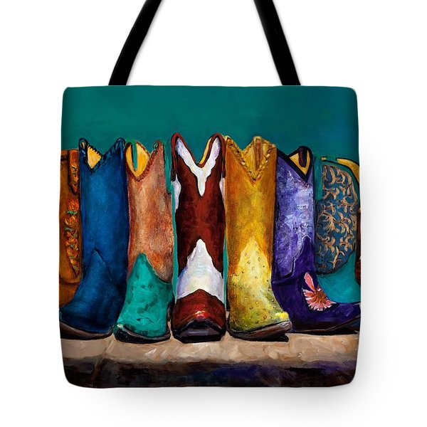 Why Real Men Want To Be Cowboys 2 Tote Bag by Frances Marino