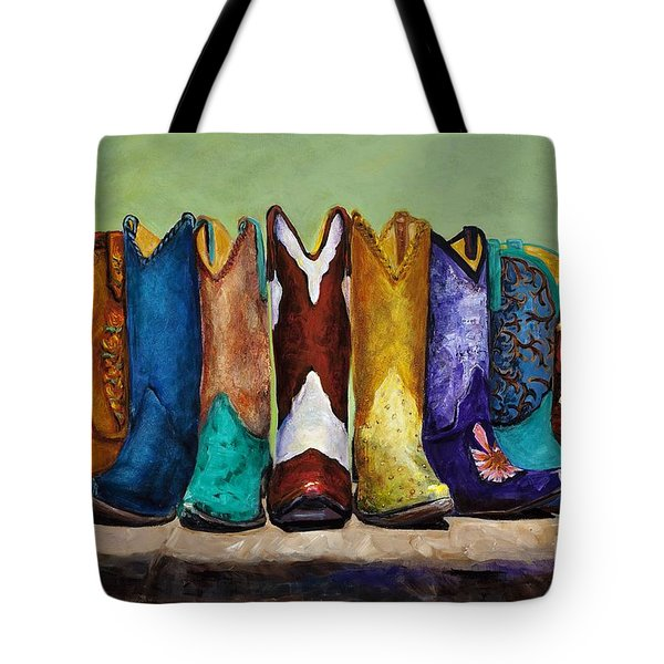 Why Real Men Want To Be Cowboys Tote Bag by Frances Marino
