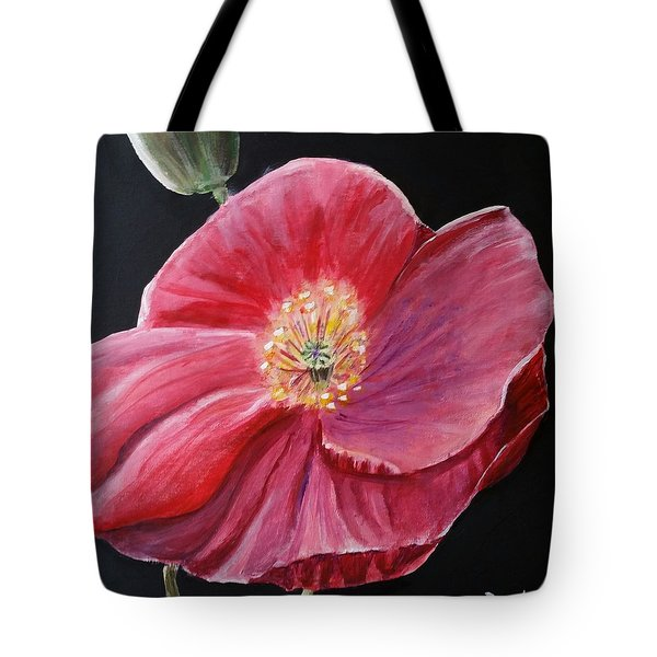Shirley Poppy Tote Bag by Carol Duarte