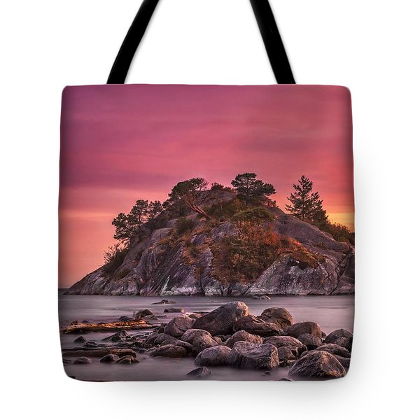 Whytecliff Island Sunset Tote Bag