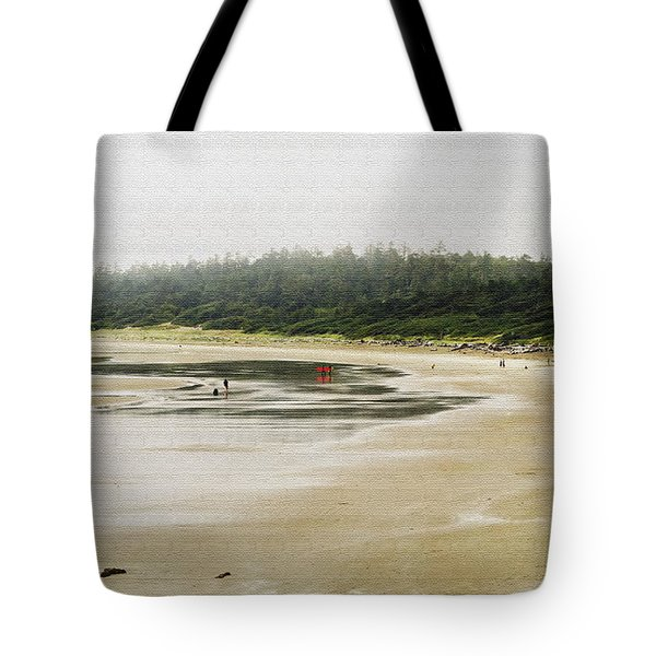 Tote Bag featuring the photograph Wickannish Beach On A Rainy Summer Afternoon by Maria Janicki