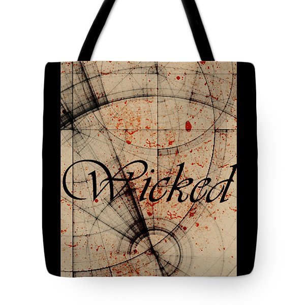 Tote Bag featuring the digital art Wicked by Cynthia Powell