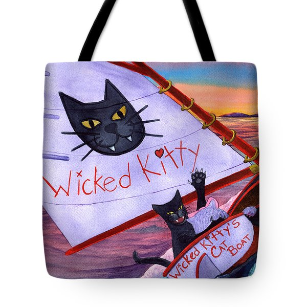 Wicked Kitty's Catboat Tote Bag
