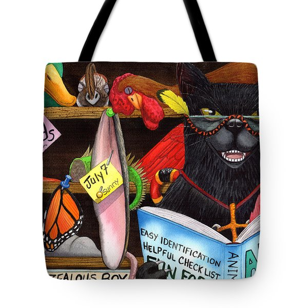Wicked Kitty's Trophy Room Tote Bag