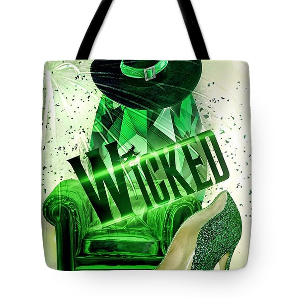 Tote Bag featuring the digital art Wicked by Mo T