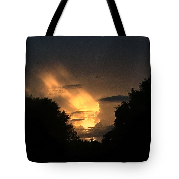 Wicked Sky Tote Bag by Audrey Robillard