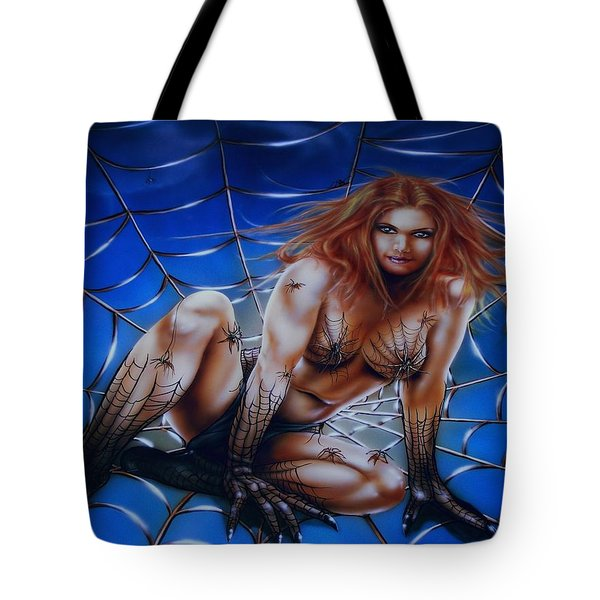 Wicked Web Tote Bag