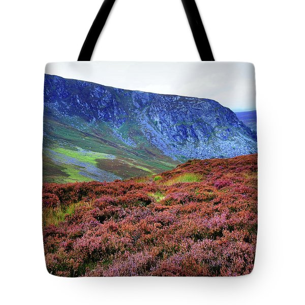Tote Bag featuring the photograph Wicklow Heather Carpet by Jenny Rainbow