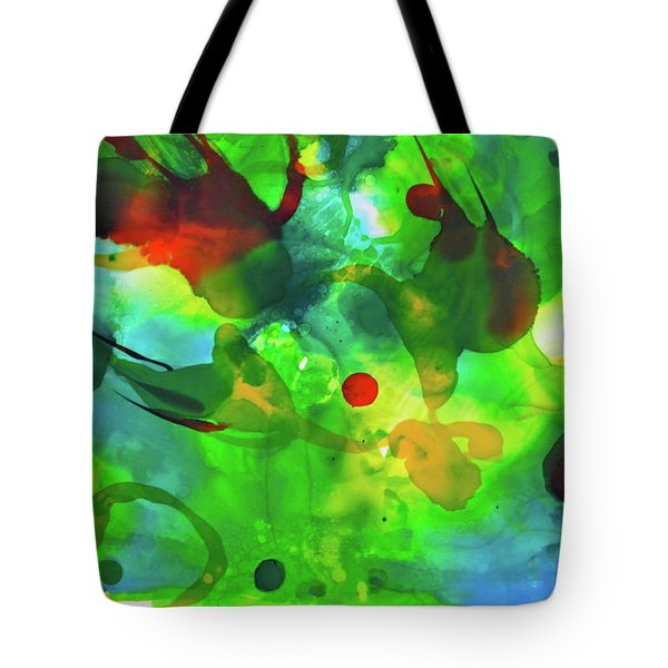 Tote Bag featuring the painting Widdy Fishy by Michele Myers