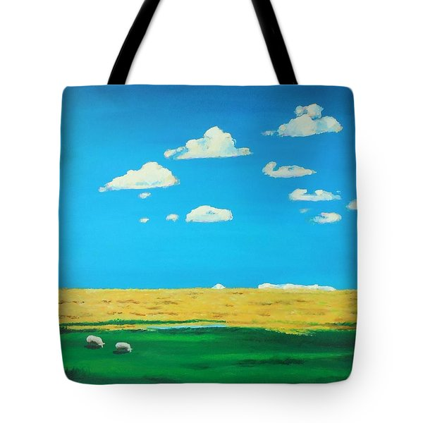 Wide Open Spaces And A Big Blue Sky Tote Bag