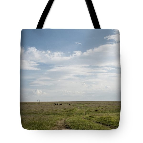 Tote Bag featuring the photograph Wide Open Spaces by Karen Slagle