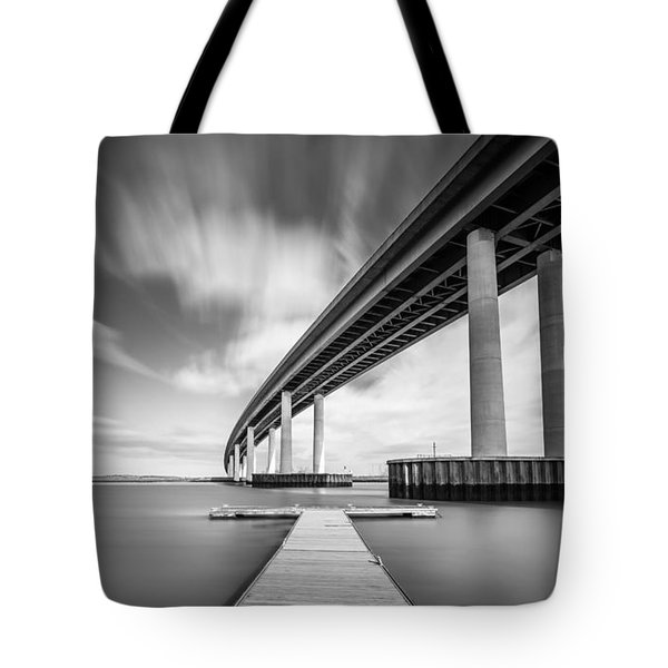 Tote Bag featuring the photograph Wide  River Bridge by Gary Gillette