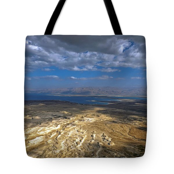 Wide View From Masada Tote Bag
