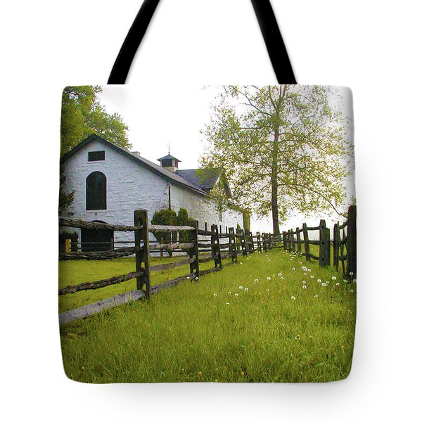 Widener Farms Horse Stable Tote Bag by Bill Cannon