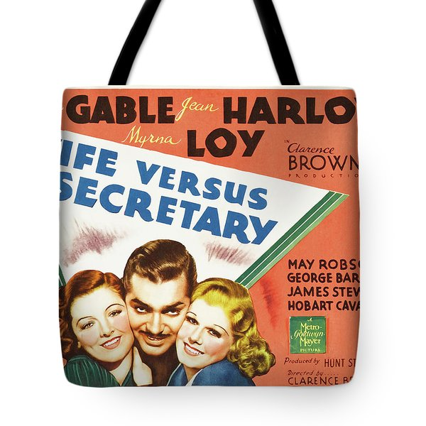 Wife Versus Secretary 1936 Tote Bag