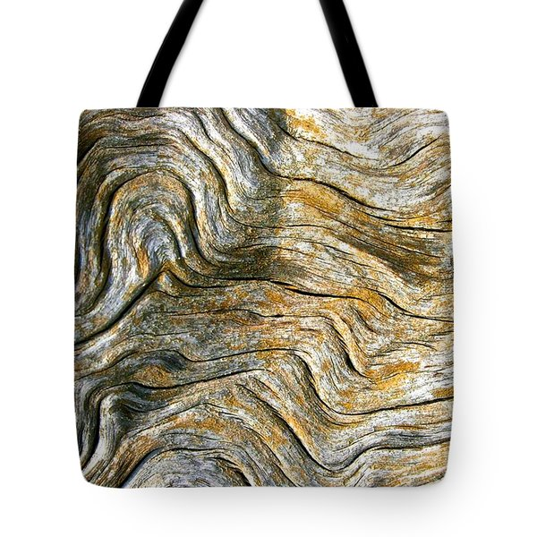 Wiggly  Wood Pattern Tote Bag