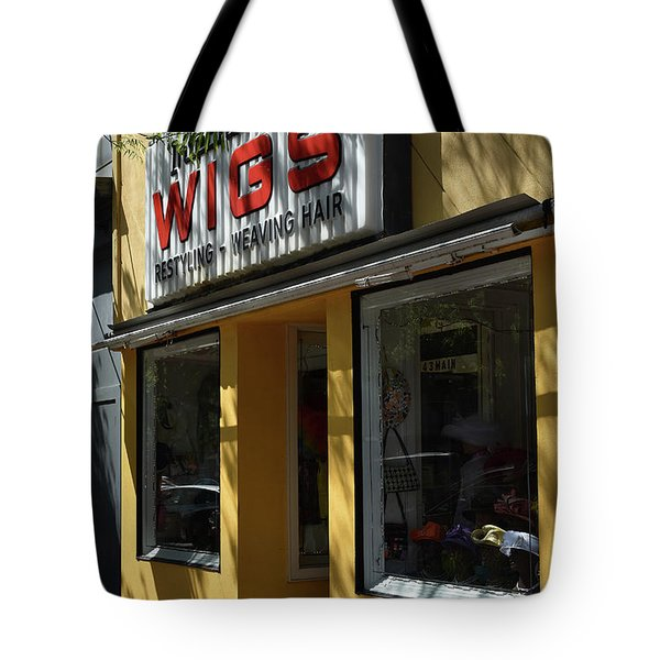 Tote Bag featuring the photograph Wigs by Skip Willits