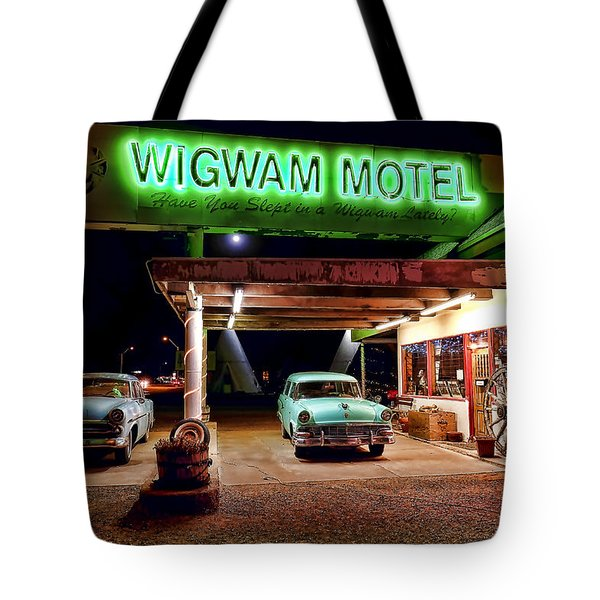 Tote Bag featuring the photograph Wigwam Motel by Jason Abando
