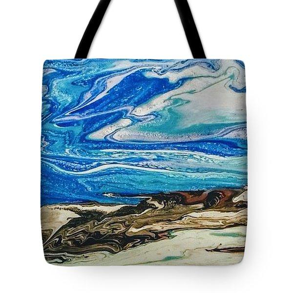 Wiinter At The Beach Tote Bag