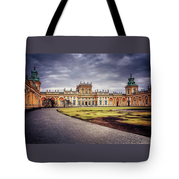 Tote Bag featuring the photograph Wilanow Palace In Warsaw  by Carol Japp