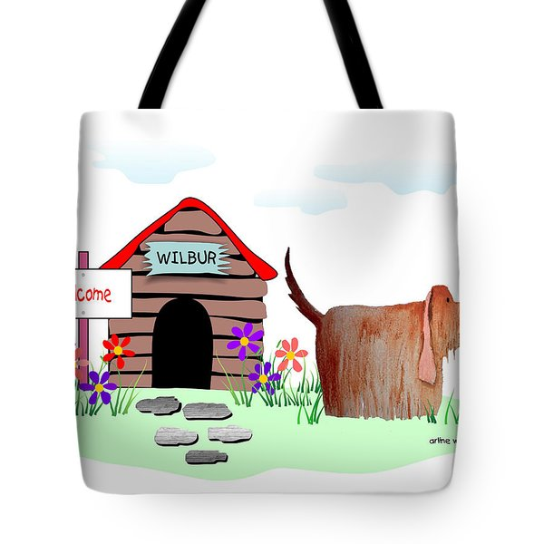 Wilbur And The Butterfly Tote Bag by Arline Wagner