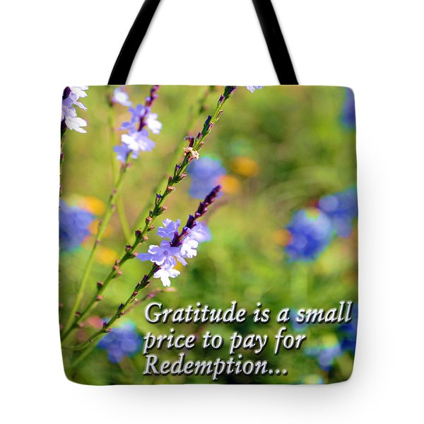 Wild About Gratitude 1 Tote Bag