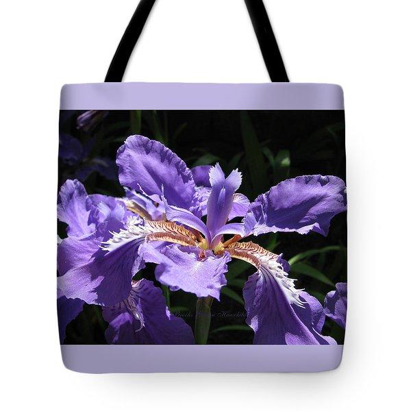 Wild About Iris Tote Bag