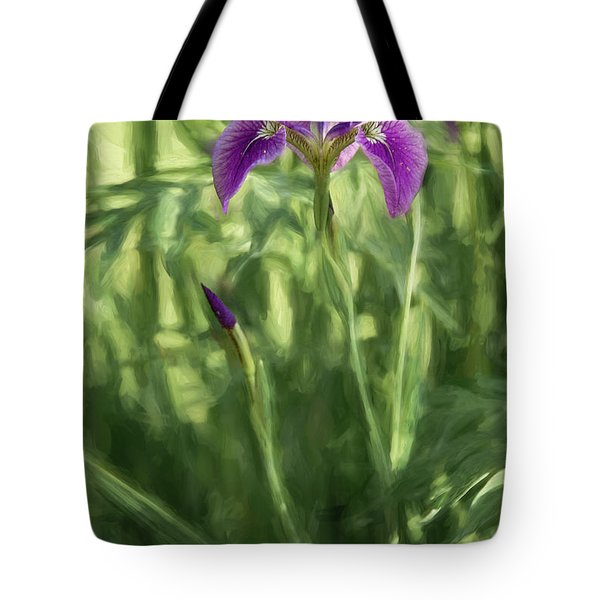 Tote Bag featuring the photograph Wild Alaskan Iris II by Penny Lisowski
