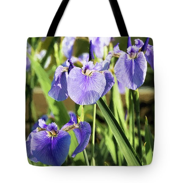Tote Bag featuring the photograph Wild Alaskan Irises IIi by Penny Lisowski