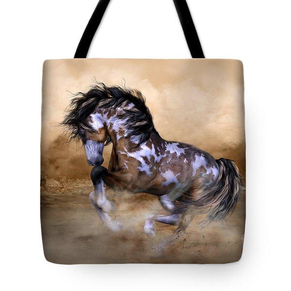Wild And Free Horse Art Tote Bag