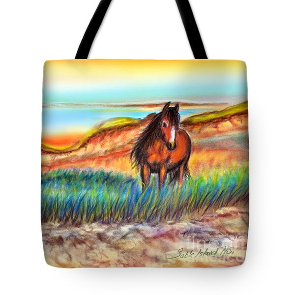 Wild And Free Sable Island Horse Tote Bag by Patricia L Davidson