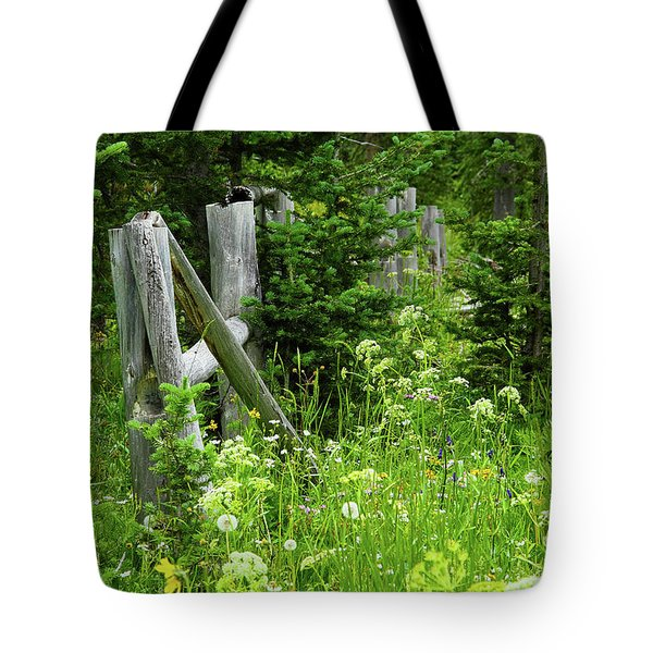 Tote Bag featuring the photograph Wild And Wildflowers by Marie Leslie